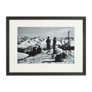 Vintage Style Photography, Framed Alpine Ski Photograph, Davos, Parsenn.