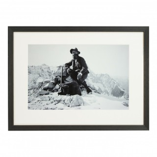Vintage Style Photography, Framed Alpine Ski Photograph, On The Alpspitze.
