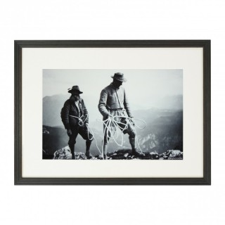 Vintage Style Photography, Framed Alpine Ski Photograph, Safety First.