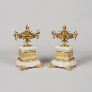 A Garniture de Cheminée in The Egyptian Manner