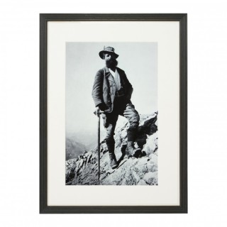 Vintage Style Photography, Framed Alpine Ski Photograph, Bavarian Guide.