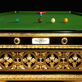 Antique Billiard Snooker Pool Table Gilded Cox And Yeman London England