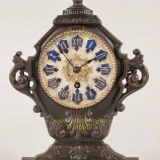 Cast iron French Mantel Clock