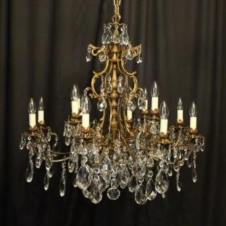 Italian Gilded Bronze 12 Light Antique Chandelier