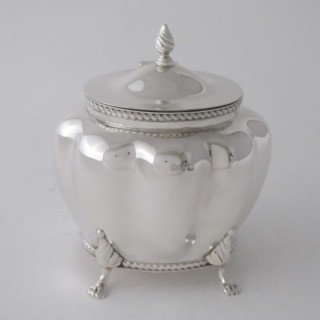 Antique Victorian Sterling silver tea caddy
