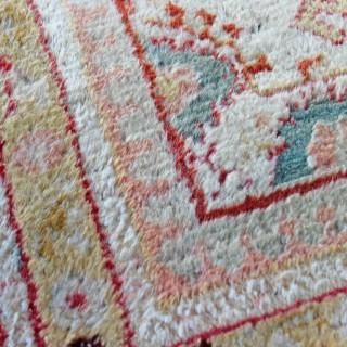 Antique Angora carpet, Oushak, Anatolia