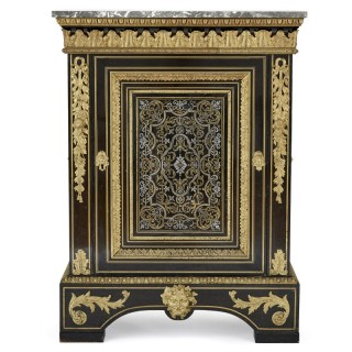 Brass and pewter inlay Louis XIV style cabinet