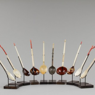 Collection of Ten Ottoman Turkish Sherbet Spoons