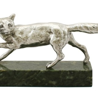 Sterling Silver Fox - Antique George V