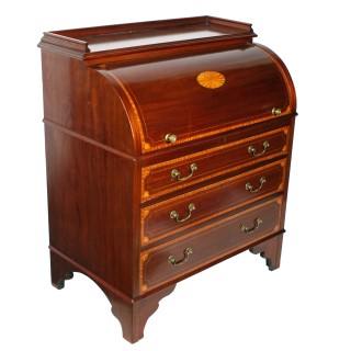 Edwardian Mahogany Cylinder Desk