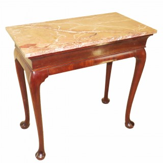 Georgian 18th Century Walnut & Marble Centre Table