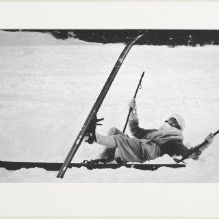 Vintage Ski Photography, Antique Alpine Ski Photograph