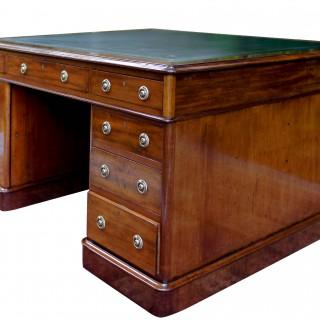 Antique Mahogany Partners Desk