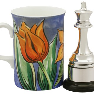 Sterling Silver Presentation Chess Trophy - Antique George V