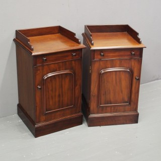 Pair of Victorian Mahogany Bedside Cabinets