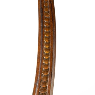 A Parcel Gilt Walnut Tiller, Possibly From An Officer's Rowing Gig