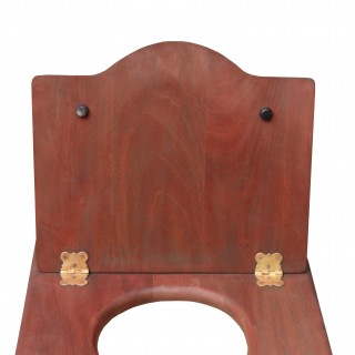 Antique Mahogany Toilet Seat