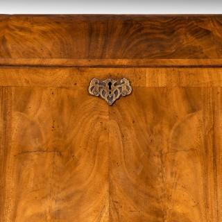 A Small Finely Figured Mid 18th Century Walnut Bureau