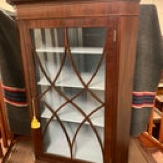 Early 19th Century Mahogany Hanging Corner Cabinet