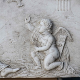 A George Iii White Marble Chimneypiece Tablet