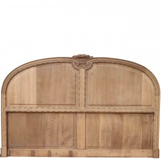 Antique French Carved Oak Headboard Panel