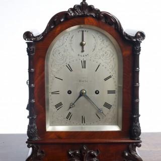 Willaim IV Mahogany cased English Fusee Bracket Clock by Daniel Ross, Exeter
