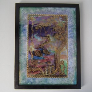Wedgwood Fairyland 'Elves in a Pine Tree' Plaque