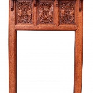 Antique Carved Oak Fireplace