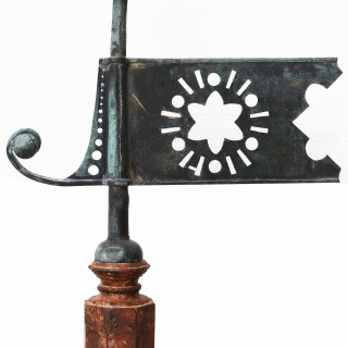 Antique Copper Thistle Weathervane