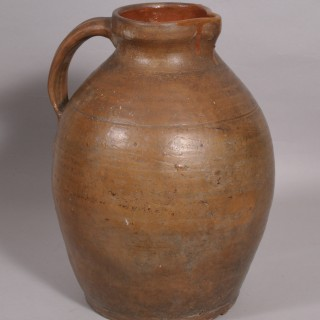 Antique 19th Century Large West Country Pottery Ale Jug