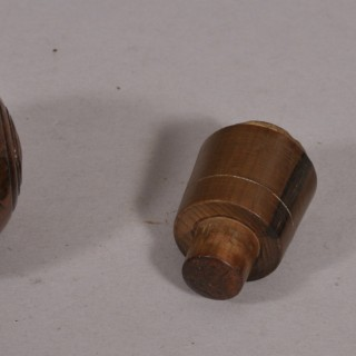 Antique Treen 19th Century Yew Wood Puzzle Ball