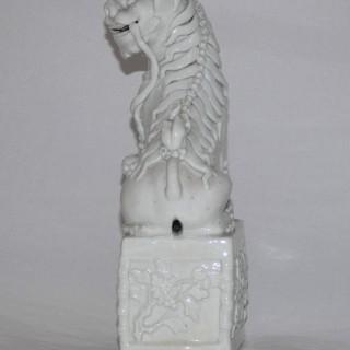 Kangxi Blanc de Chine large Dog of Fo