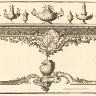 An Exceptional Giltwood Table de Milieu in the Louis XIV Style