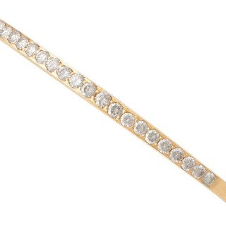 1.89ct Diamond and 18ct Yellow Gold Bangle - Vintage Circa 1980