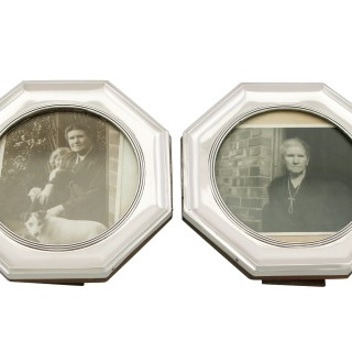 Sterling Silver Photograph Frames - Antique George V (1910)