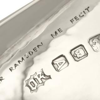Sterling Silver Tartlet Servers by Omar Ramsden - Arts and Crafts - Antique Edward VIII