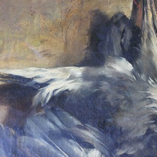 A Large Late 19thC Dutch School Oil on Canvas Study of a Heron as Hanging Game; Jos Paÿ 1889
