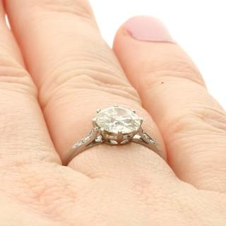 1.55ct Diamond and Platinum Solitaire Ring - Antique Circa 1925