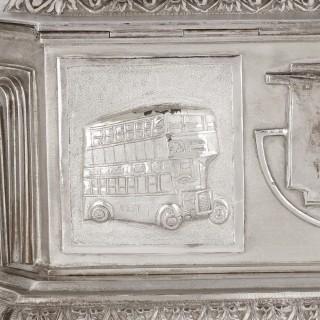Anglo-Indian Art Deco silver presentation casket