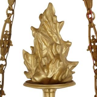 French Empire style gilt bronze chandelier