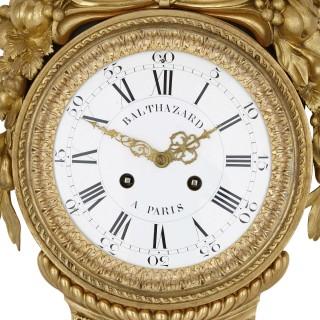Gilt bronze and porcelain clock and barometer set by Michel Balthazar