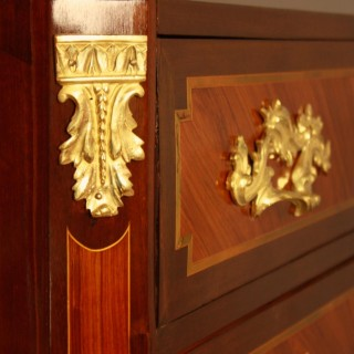 18th Century French Louis XV/Transition Marquetry Commode