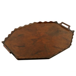 Georgian Style Yew Wood Tray