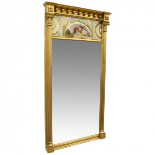 Regency Mirror with Verre Eglomise Panel
