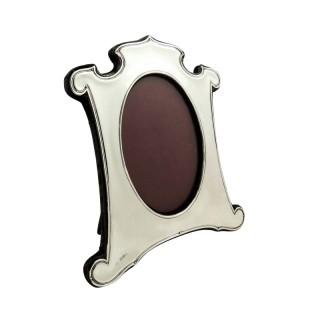 Antique Edwardian Sterling Silver Photo Frame 1909