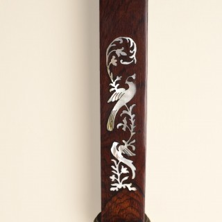George III Rosewood Marine Mercury Stick Barometer by Reballieo & Zoon, Rotterdam