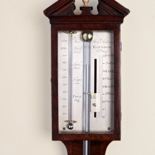 George III Mahogany Stick Barometer by Henry Andrews, Royston