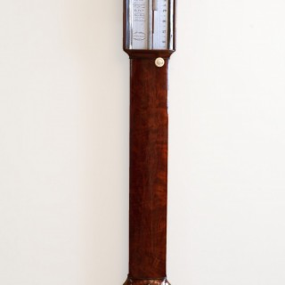Georgian Mahogany Bow Fronted Stick Barometer by Stott, Dumfries