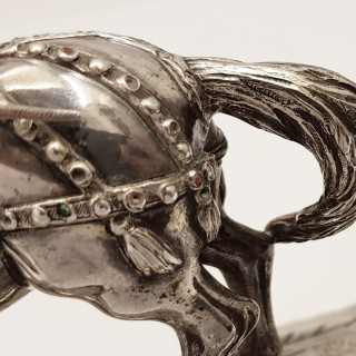 Antique Silver Horse and Rider