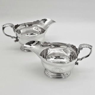 George II Silver Sauceboats